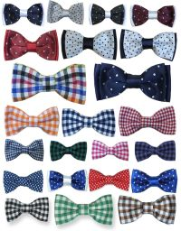Boys Quality Bow Ties Boys Check Bow Tie Kids Polka Dot