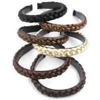 Womens Braided Synthetic Hair Plaited Fishtail Elastic