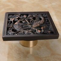 Free Shipping Art Carved Floor Drain Oil Rubbed Bronze