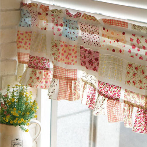 Floral kitchen curtain Kitchen valance curtains living room curtains flowers  eBay