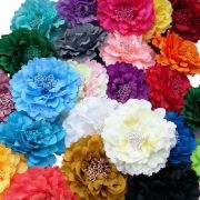 large flower peony hair clips grips
