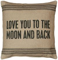 "Love You To The Moon And Back Throw Pillow 15"" x 15"