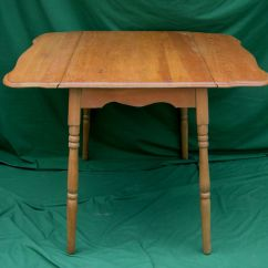 Drop Leaf Kitchen Table Chairs Dining Chair Back Covers Christmas 1930s Depression Era Solid Maple Country With Side Extensions Usa | Ebay