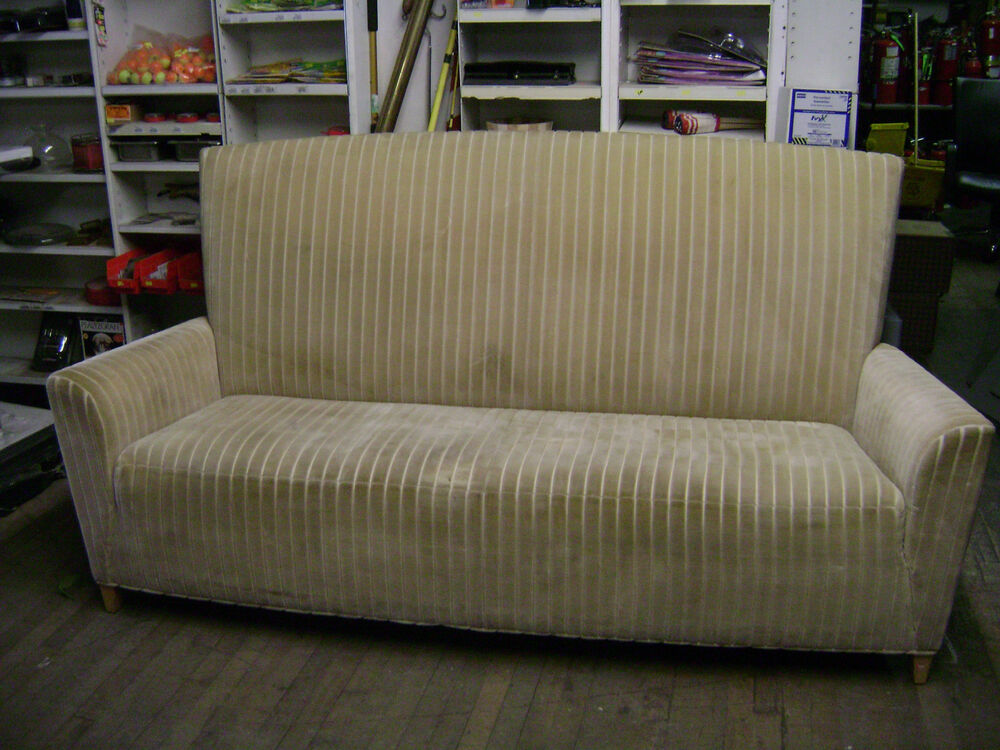 High Back Velvety Upholstered Ribbed Fabric Sofa Couch Ebay