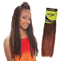JANET Noir Afro Twist Braid Kanekalon Synthetic Marley
