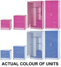 NEW Marina Boys or Girls Pink & Blue Ultra Gloss Bedroom