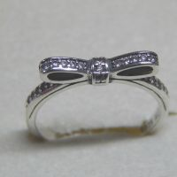 New Authentic Pandora Ring Sparkling Bow Size 52 (6 ...