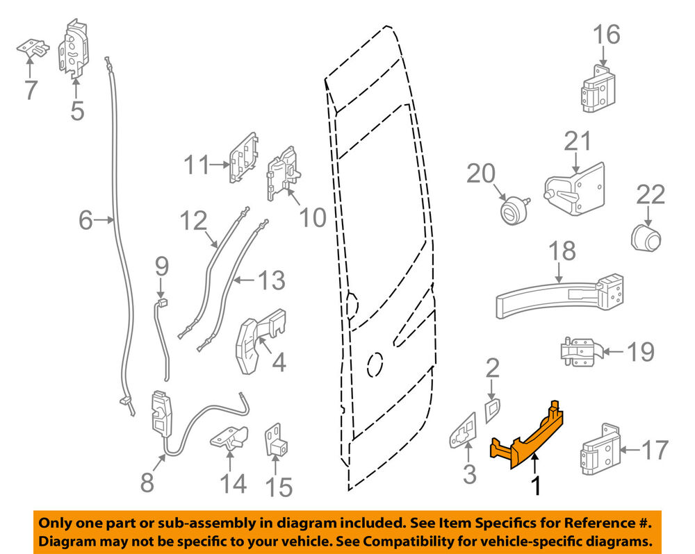 Door Handles And Accessories Diagram And Parts List For Kenmore