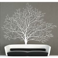 White Birch Tree Wall Decal Stickers Branch Forest Modern ...