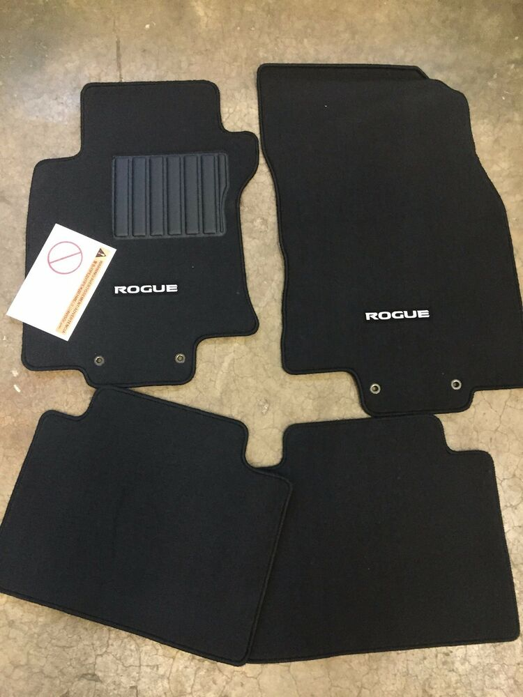 NEW OEM NISSAN ROGUE 20142016 BLACK CARPET FLOOR MATS  4