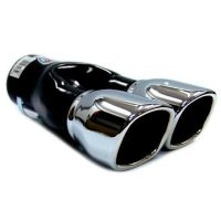 Twin Exhaust Pipes Muffler Chrome Fits Seat Ibiza Alhambra ...