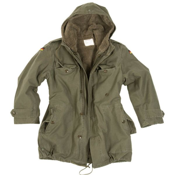 German Army Classic Parka Military Combat Mens Jacket Coat