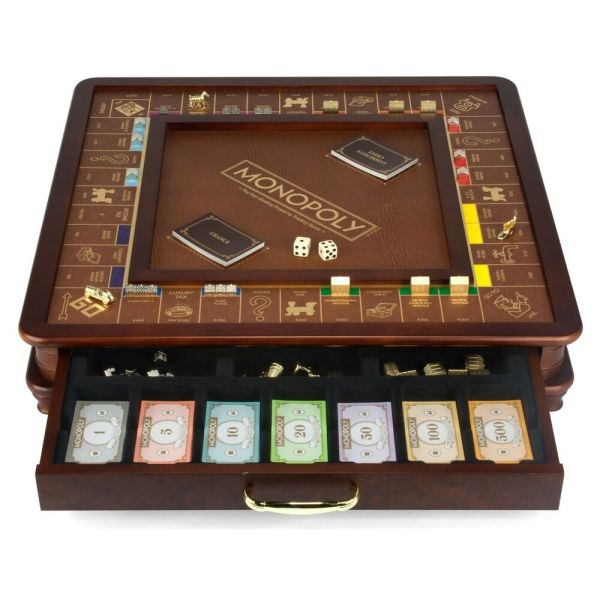 Monopoly Luxury Edition With Wooden Game Board & Gold Foil