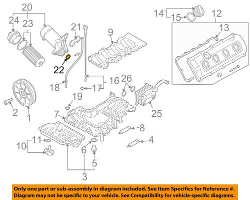small resolution of audi oem 04 09 s4 engine oil filter housing seal n90959701 ebay
