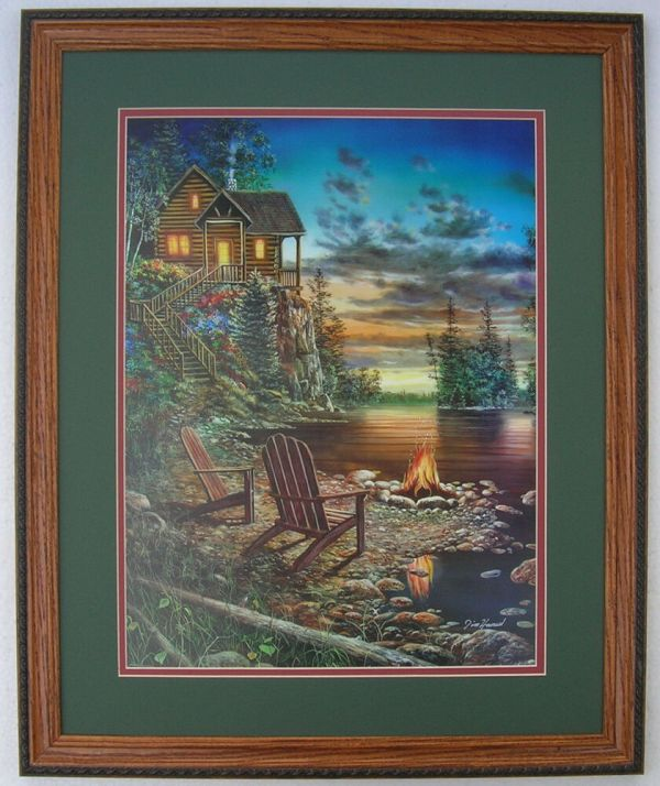 Jim Hansel Hunting Lodge Prints Framed Country