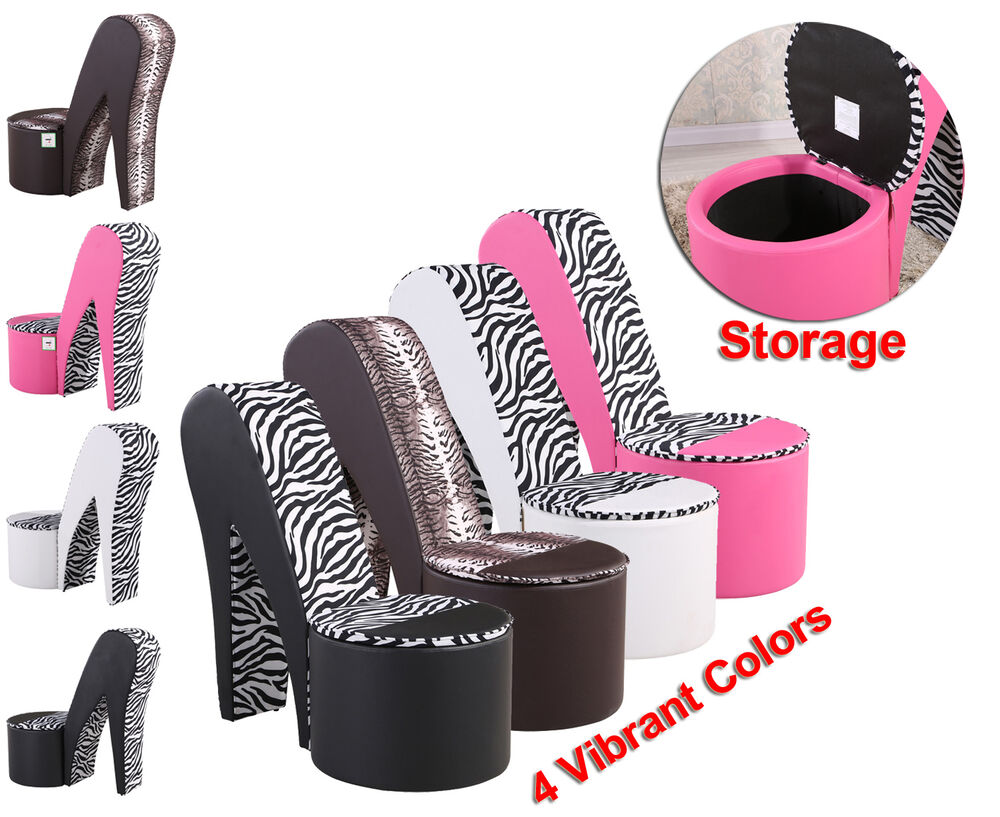 Funky Stiletto High Heel Shoe chairs in Faux Soft Leather