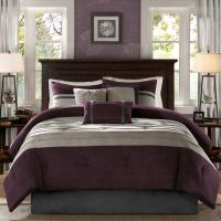 BEAUTIFUL SOFT MODERN CHIC TEXTURED PURPLE PLUM GREY