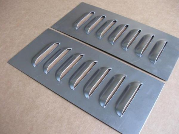 3quot Pair Straight Aluminum Louvered Panels 7 louvers ea by
