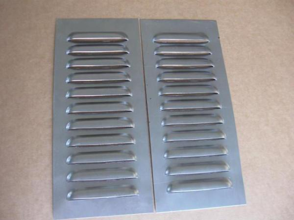 5quot Pair Straight Aluminum Louvered Panels 11 louvers ea