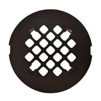 Oil Rubbed Bronze Round Snap-In Shower Drain Grate 4 1/4 ...