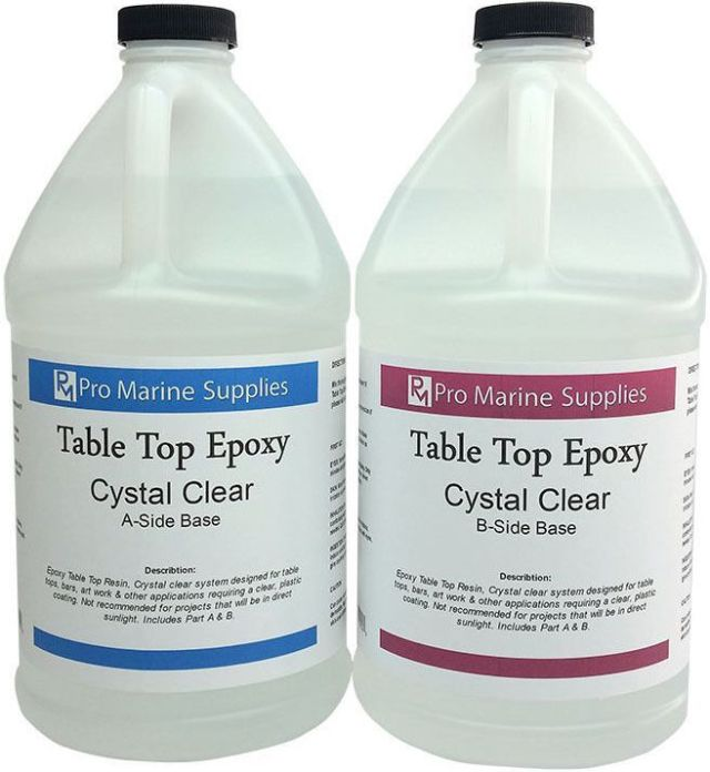 ... Table Top Epoxy Resin Coating for Wood Tabletop 1 Gallon Kit | eBay