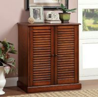 Della Oak Finish Wood Louver Design Doors Adjustable ...