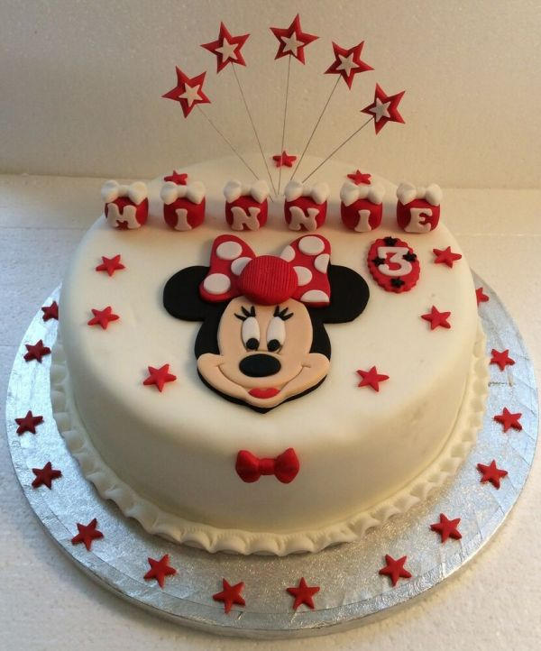 Minnie Mouse Cake Topper - Colour