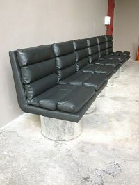 4 70'S HIGH END FUTURISTIC DESIGNER LEATHER DINING CHAIRS ...