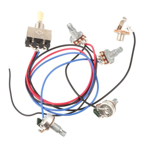 small resolution of wiring harness 3 way toggle switch 2v2t 500k pots jack les paul lp