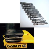 Dewalt Magnetic Bit Holder + Screw + 10pcs pz2 50mm bits ...