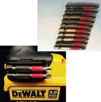 Dewalt Magnetic Bit Holder + Screw + 10 x pz2 50mm bits ...