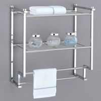 Towel Rack Bathroom Shelf Organizer Wall Mounted Over ...