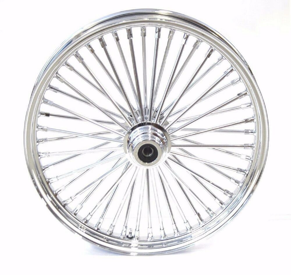 FAT SPOKE 21 FRONT WHEEL CHROME 21 X 2.15 HARLEY SOFTAIL