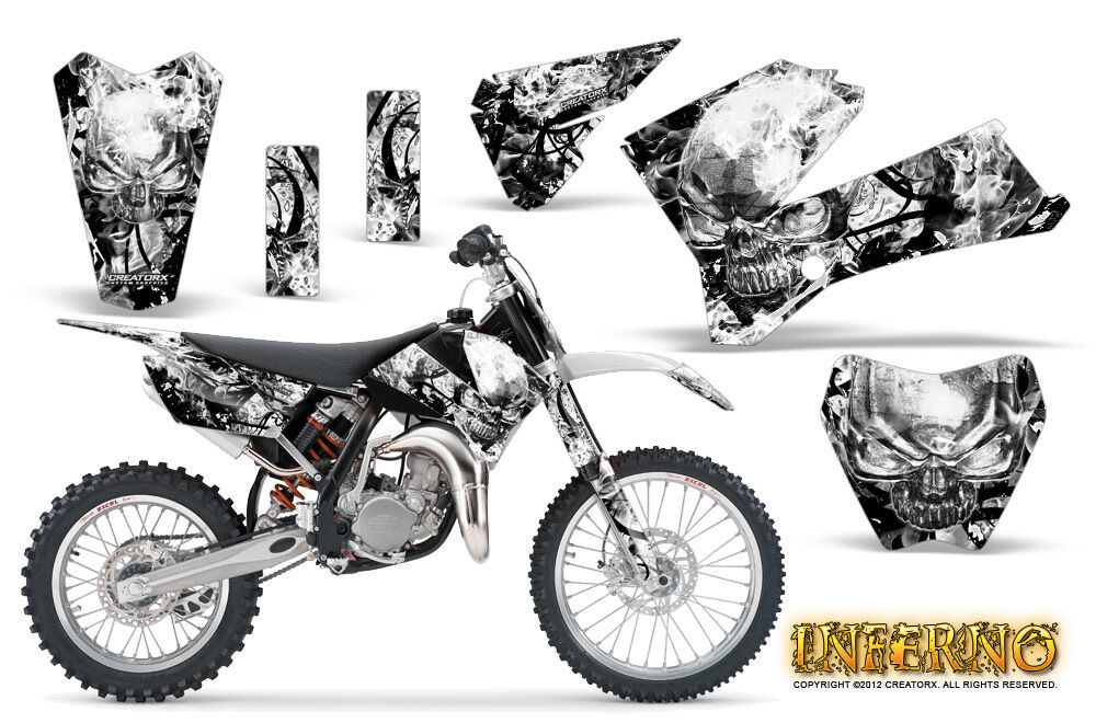 CREATORX GRAPHICS KIT FOR KTM SX85 SX105 2006-2012 INFERNO