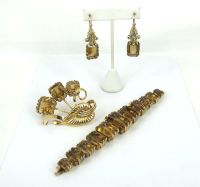 Vintage 350ct Natural Citrine & 18K Gold Hand Carved ...
