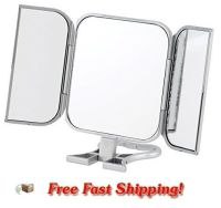 NEW MakeUp Mirror 3 Way Folding Beauty Bathroom Vanity ...