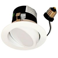 "4"" RECESSED CAN LIGHT DIMMABLE LED RETROFIT KIT ADJUSTABLE"