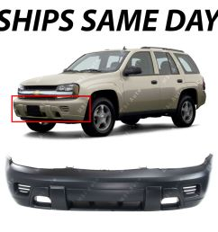 details about primered front bumper cover replacement for 2002 2008 chevy trailblazer suv [ 1000 x 1000 Pixel ]