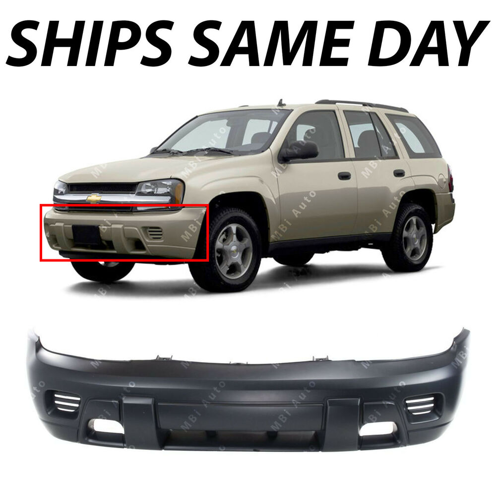 hight resolution of details about primered front bumper cover replacement for 2002 2008 chevy trailblazer suv