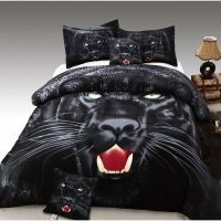 TWIN Size Black Panther 3pc Duvet Cover Set 100% Cotton ...