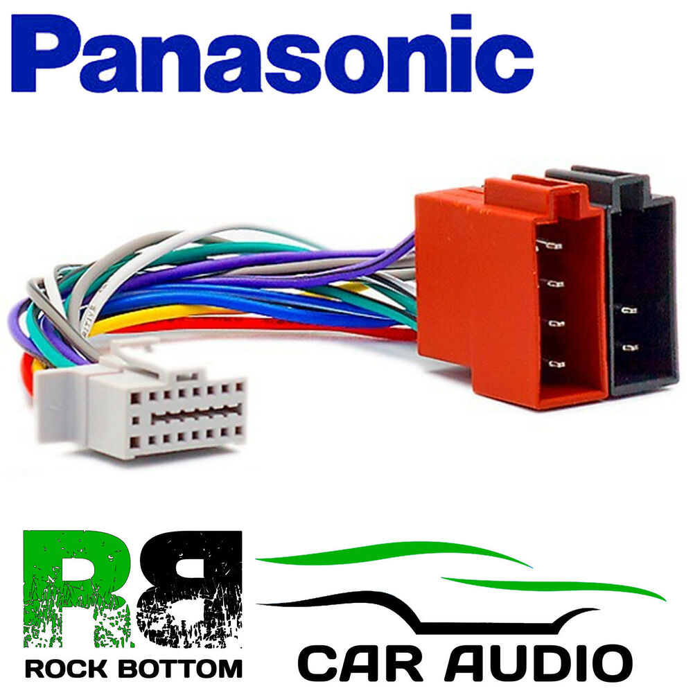 hight resolution of details about panasonic cq c1001 nw model 16 pin car stereo radio iso wiring harness lead