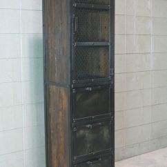 Metal Cabinets Kitchen Birkenstock Clogs Industrial Pantry. And Reclaimed Wood. Cupboard ...