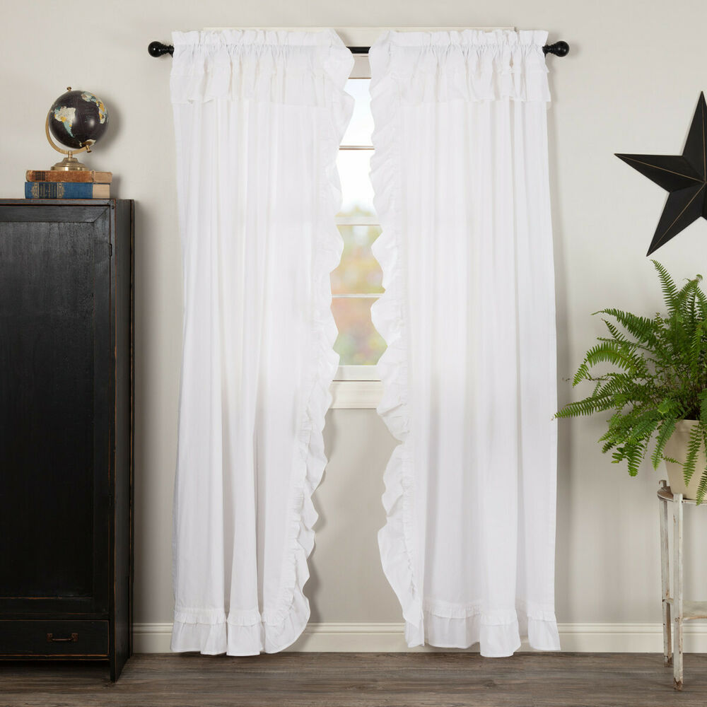 Burlap Natural With Black Stars 84 Panel Set CURTAINS Country Primitive Rustic EBay
