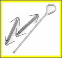 Tent pole spring connectors for tent and awning poles ...