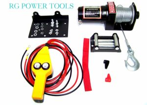 2000LB Power Cable Winch Kit truck trailer Boat with