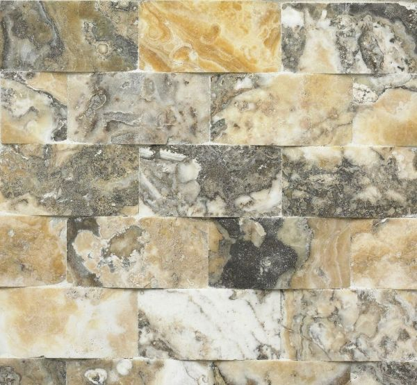 2x4 Wavy 3d Antique Onyx Travertine Mosaic Tile Wall