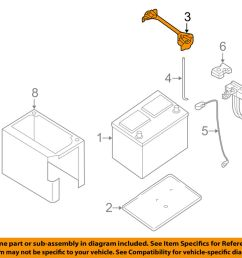 details about nissan oem 05 11 frontier 4 0l v6 battery hold down tie bracket clamp 24427zn50a [ 1000 x 798 Pixel ]