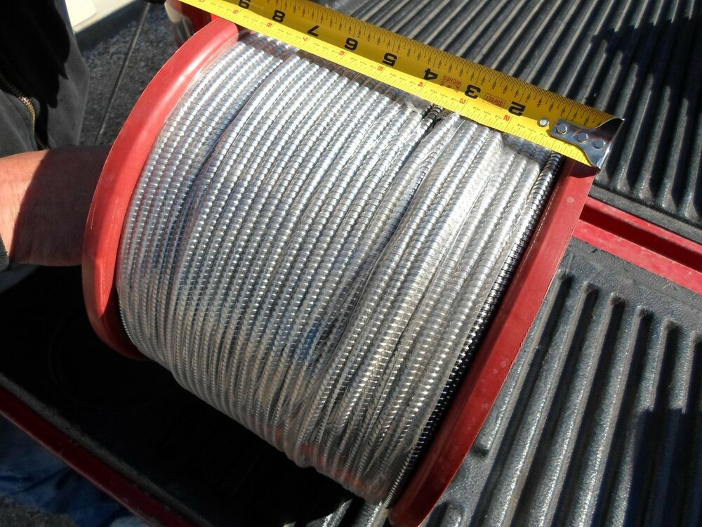 """1000' Roll 316"""" Id Flexible Armored Cable 304 Stainless"""