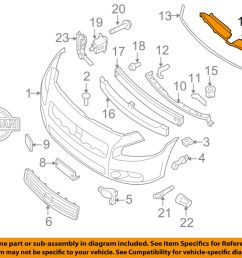 nissan oem 09 14 maxima front bumper grille closure panel 620789n00a 1989 nissan maxima engine diagram only [ 1000 x 798 Pixel ]