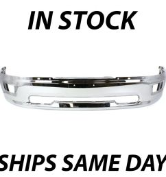 details about new chrome front bumper face bar for 2009 2010 2011 2012 dodge ram 1500 w fog [ 1000 x 1000 Pixel ]